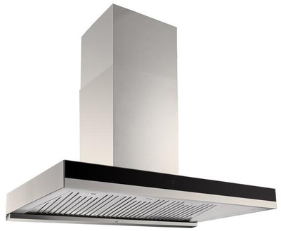 Dilusso BLACK GLASS BAFFLE FILTER Q SERIES RANGEHOOD - 900MM