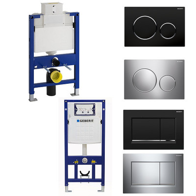 Geberit Duofix Concealed Cistern With Frame Sigma 8 Kappa