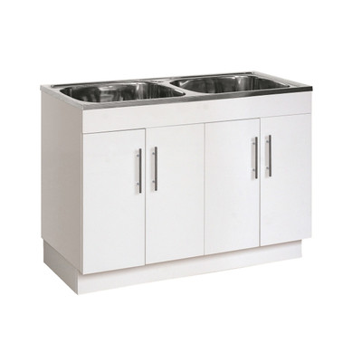 Normandy Double Stainless steel Top Poly  Laundry Tub