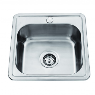 PROJECT Inset Kitchen Sink 447x440 - Single Bowl