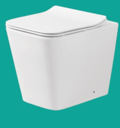 Normandy Square Rimless Wall Faced Pan with In Wall Cistern