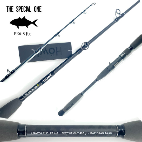 Howk The Special One XL Jig Rod Overhead