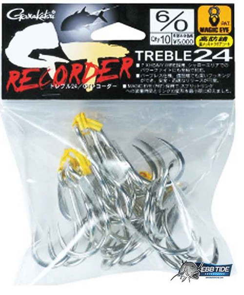 Gamakatsu GT Recorder Treble BULK PACK 6/0