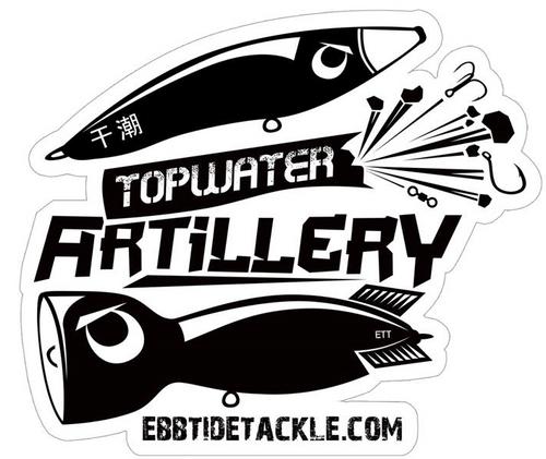 Ebb Tide Topwater Artillery Decal