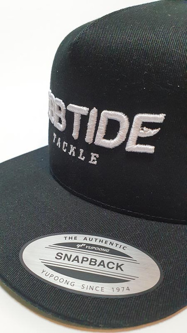 Ebb Tide Snapback 3-D Flatpeak Cap (Black)