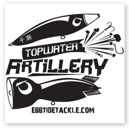 Ebb Tide Topwater Artillery MEGA Decal