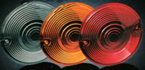 Harley Flat Style Turn Signal Lenses Clear
