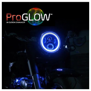 """PROGLOW™ 7"""" MOTORCYCLE LED HEADLIGHT WITH COLOR CHANGING HALO"""