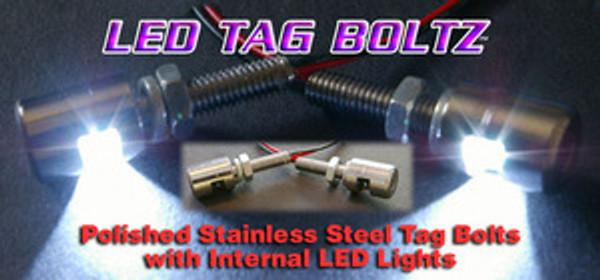 LED Tag Bolts - White Tag LEDs