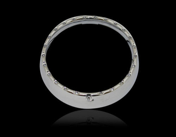 "7"" L.E.D. Halo Headlight Trim Ring With Built In Turn Signals"
