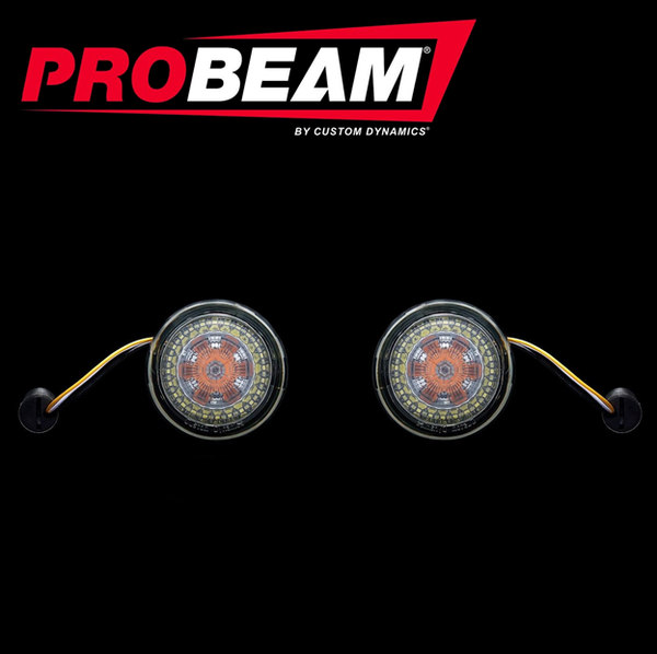 ProBEAM® CVO™ Amber/White Dynamic Ringz™ with Smoked Lenses