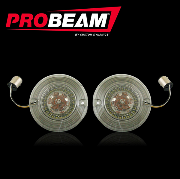 Flat ProBEAM® Amber/White Dynamic Ringz™ Inserts with Smoked Lenses