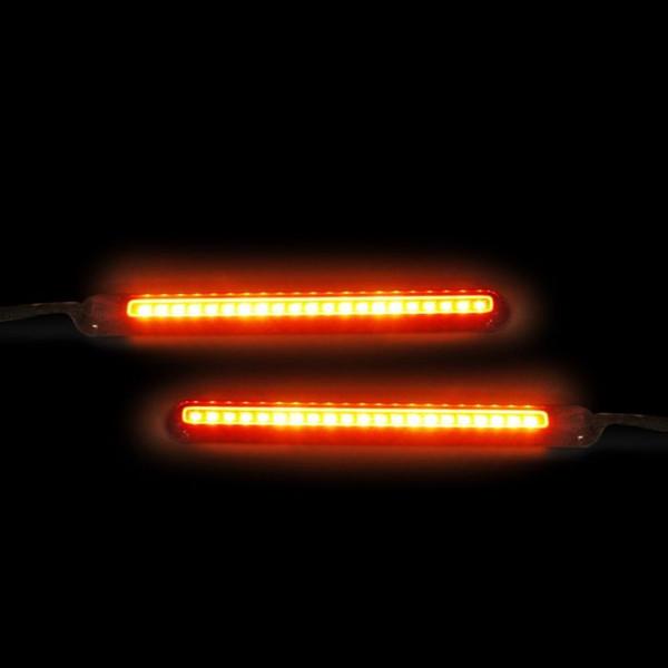 """Dynamic 4.5"""" Amber/White LED Light Bars"""