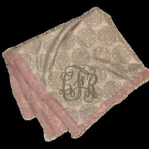 Pink Pattern Monogram Blanket