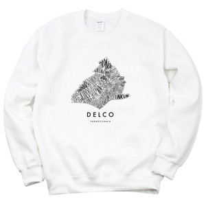 Delco Map Crewneck Sweatshirt