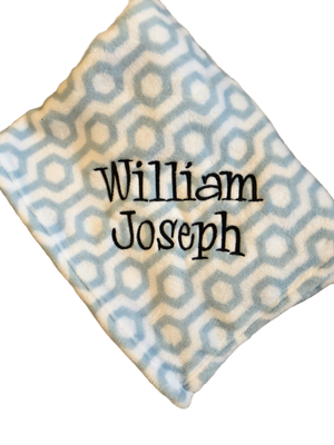 Light Blue Geometric Blanket