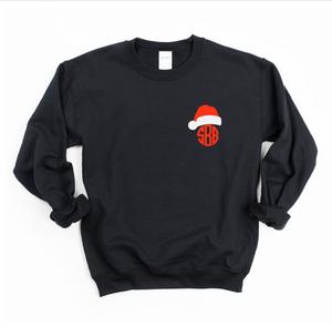 Santa Hat Embroidered Monogram (Sweatshirt)
