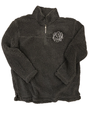 Embroidered 1/4 Zip Unisex Sherpa