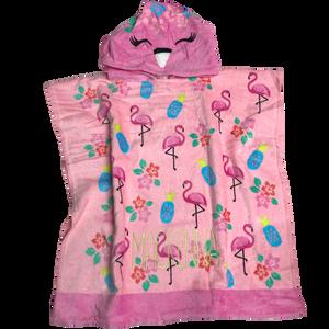 Flamingo Hooded Poncho Towel (Toddler)