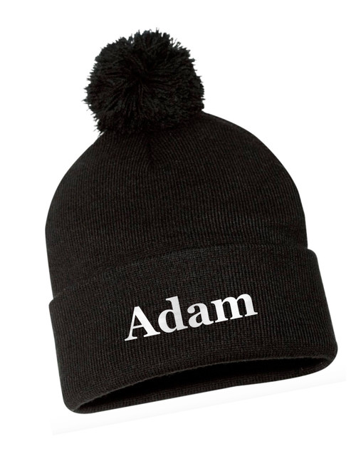 Embroidered Name Beanie Hat