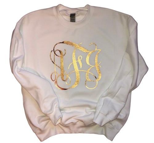 Foil Monogram Sweatshirt