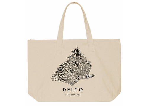 Delco Map Canvas Tote (*Shirt Donated for Frontline Worker)