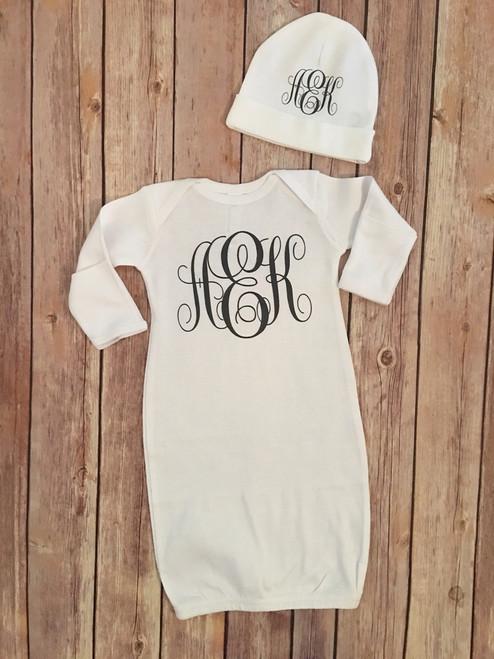 Infant Gown Set (monogram)...