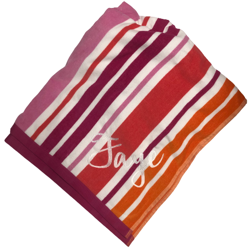 Stripe Beach Towel (Pink)