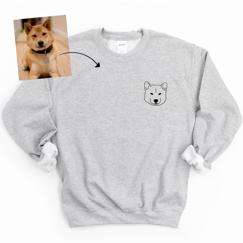 Custom Pet Crewneck Sweatshirt (*1 Pet)