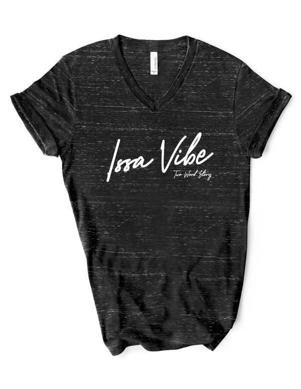 Issa Vibe Unisex Marble Tee (Two Word Story)