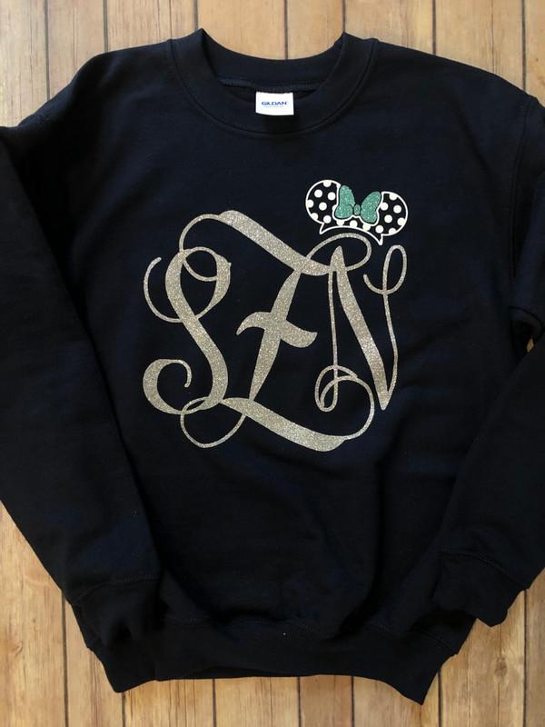 Minnie Monogram Sweatshirt...