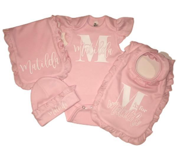 Pink Ruffle Baby Girl Set