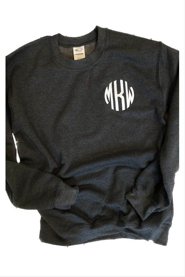 Embroidered Monogram Sweatshirt (Adult)