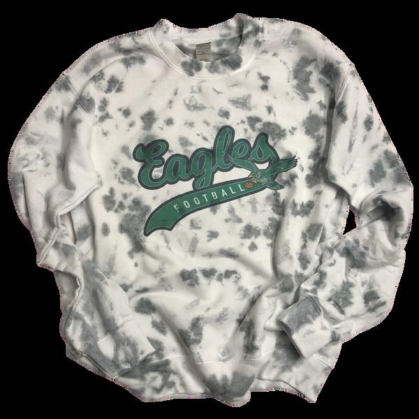Eagles Football Gray Tie Dye Sweatshirt