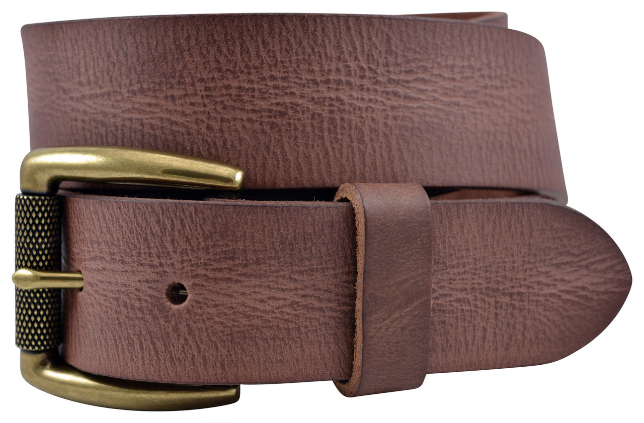 Vintage Full Grain Buffalo Leather Belt Brown TBS4130-200