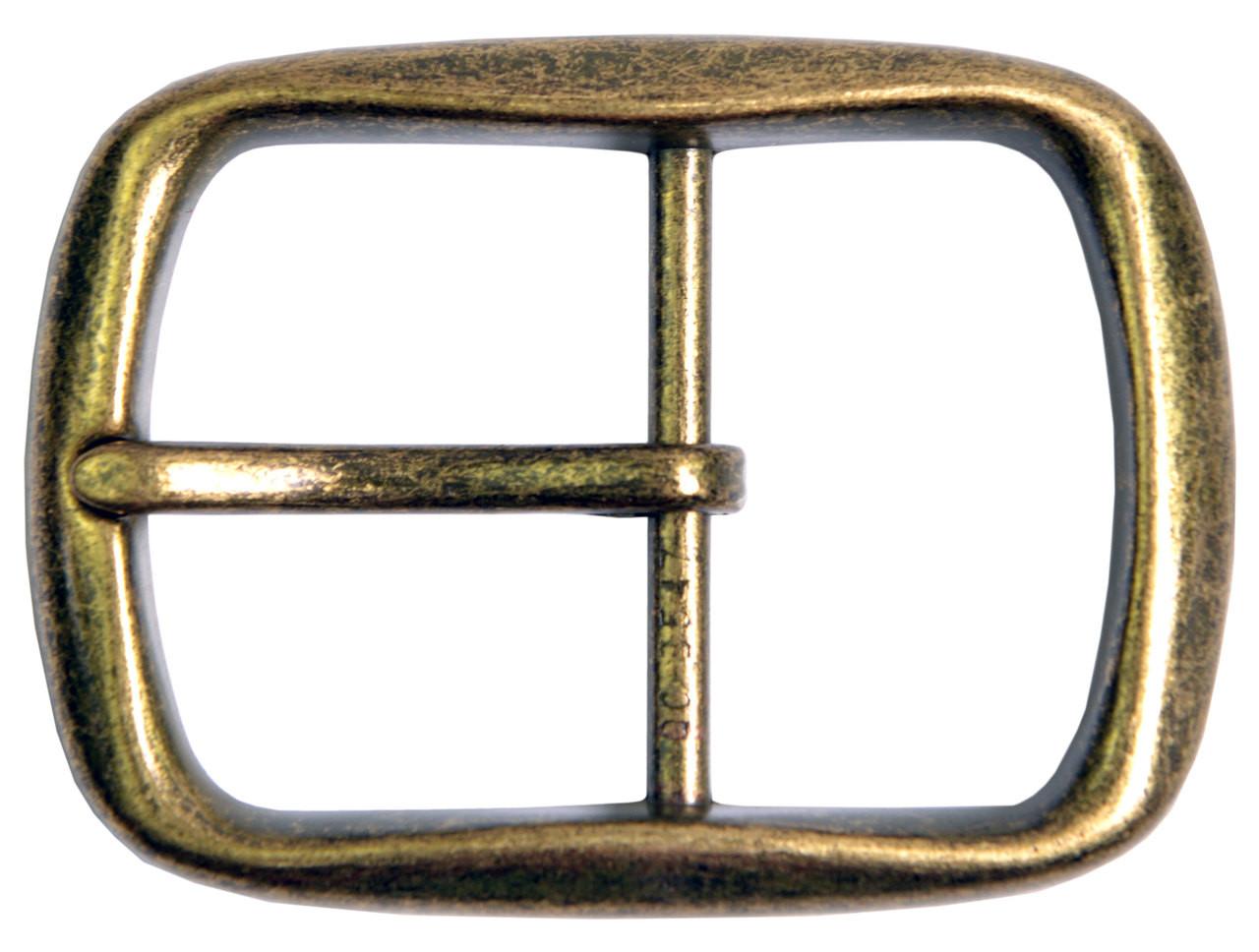 "Fits 1-1//2/"" Belts Antique Silver Oval Center Bar Buckle"