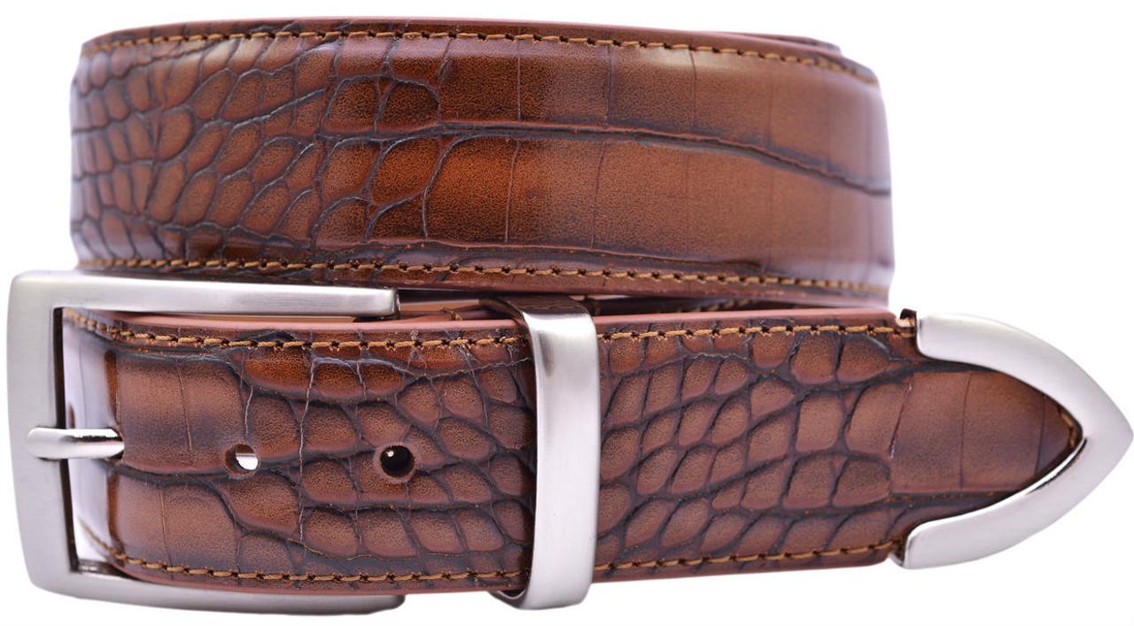Gem-Dandy PGA Tour Full Grain Leather Belt White 38