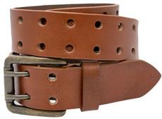 2-Hole Buffalo Leather Belt - Tan - TheBeltShoppe.com