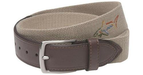 Greg Norman Web Belt - Khaki