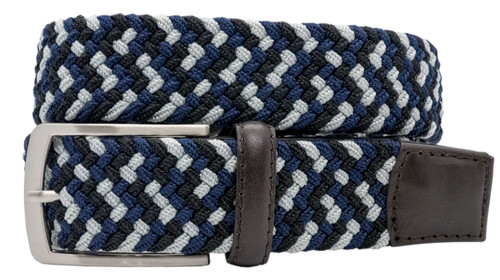 Greg Norman Performance Braided Stretch Belt - 6941500 - Gray/Navy/Black