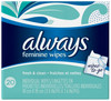 Always Clean Feminine Wipes, 20 ct