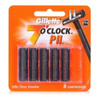 Gillette 7 O'Clock PII Trac II Refill Cartridges, (No Lubircating Strip), 5 ct, 1 Ea