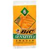Bic Sensitive Disposable Shavers, 6 ct