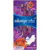 Always Radiant Flexfoam Overningt Pads with wings, Scented, 20 ct, 6 PACKS, 1 CASE