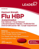 Leader Maximum Strength HBP Flu Tablets (Comparable to Coricidin Flu), 20 CT