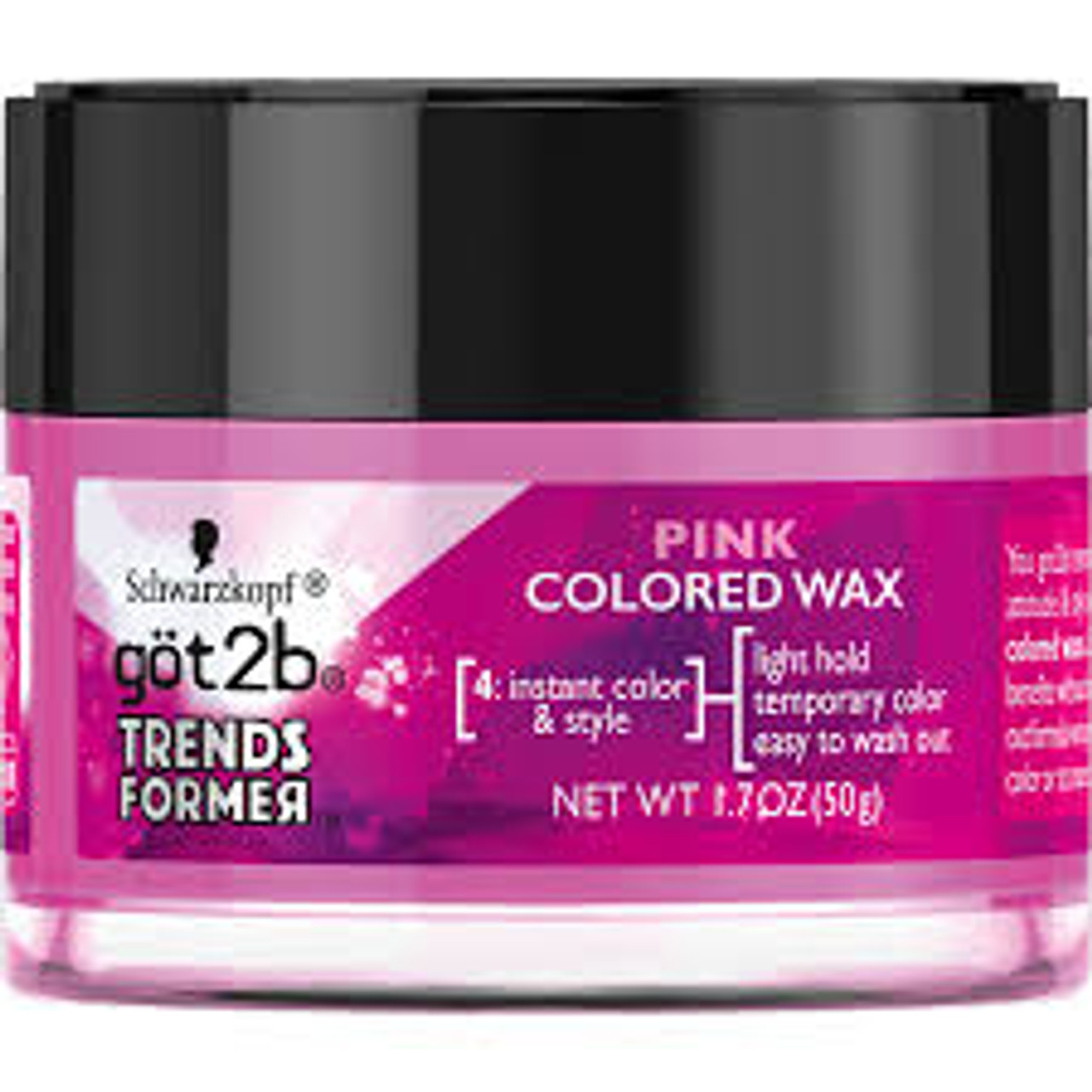 Got2b Trendsformer Temporary Hair Color Wax, Pink, 1.7 oz ...
