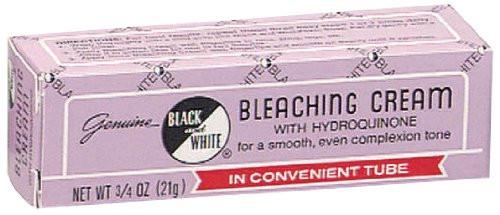 Black & White Bleaching Cream with Hydroquinone, 3/4 oz