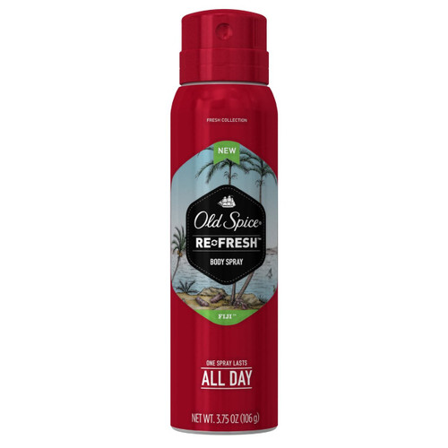 Old Spice Fresh Collection Refresh Fiji Body Spray, 3.75 oz, 1 Ea