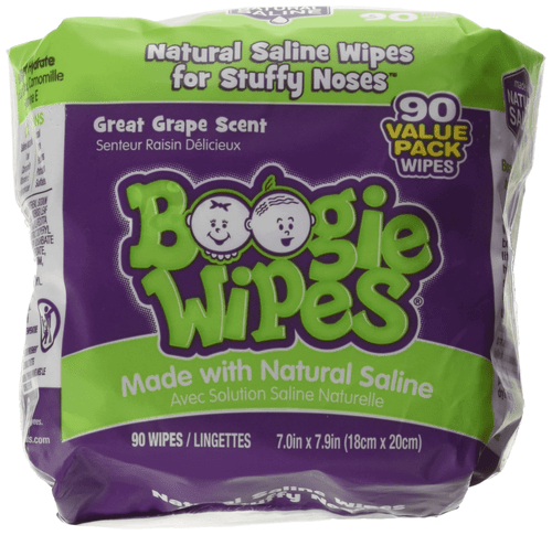 Boogie Wipes Saline Nose Wipes, Great Grape, 90 ct