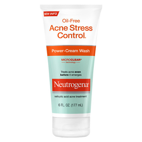 Neutrogena Oil-Free Acne Stress Control, Power-Cream Wash, 6 oz